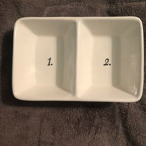 Rae Dunn 1. 2. Compartment Divided Tray Dish